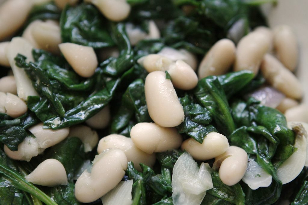 Beans Spinach Healthy Meal Veggies